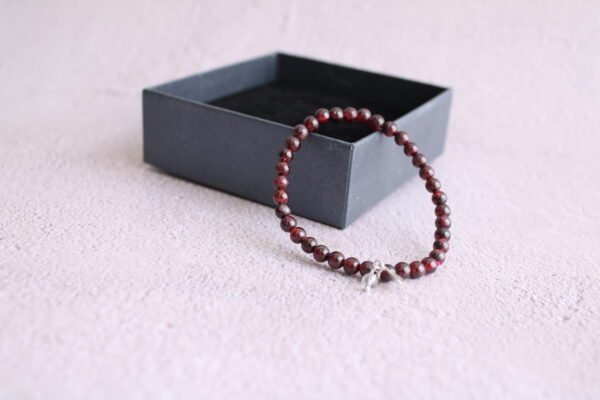 Burgundy Garnet Bracelet 6mm