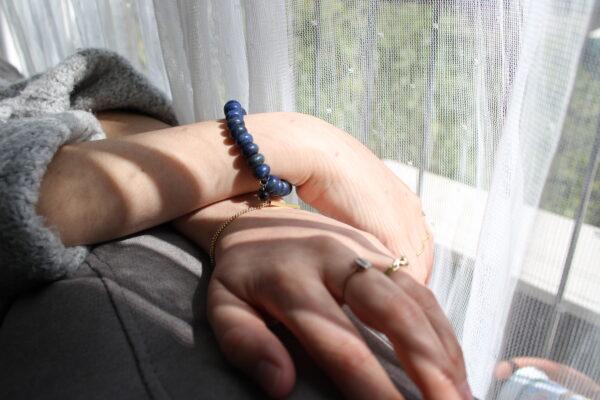 Dyed Lapis Lazuli abacus Bracelet 6mm
