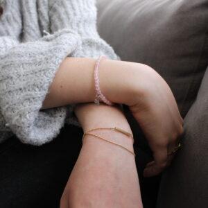 Rose quartz 4mm Bracelet