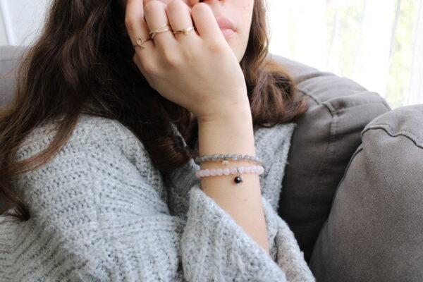 Glitter Labradorite Bracelet 4mm