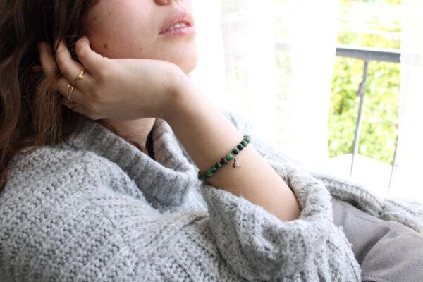 ruby zoisite (anyolite) Bracelet 6mm