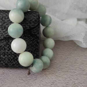 Blue Amazonite Bracelet 16mm