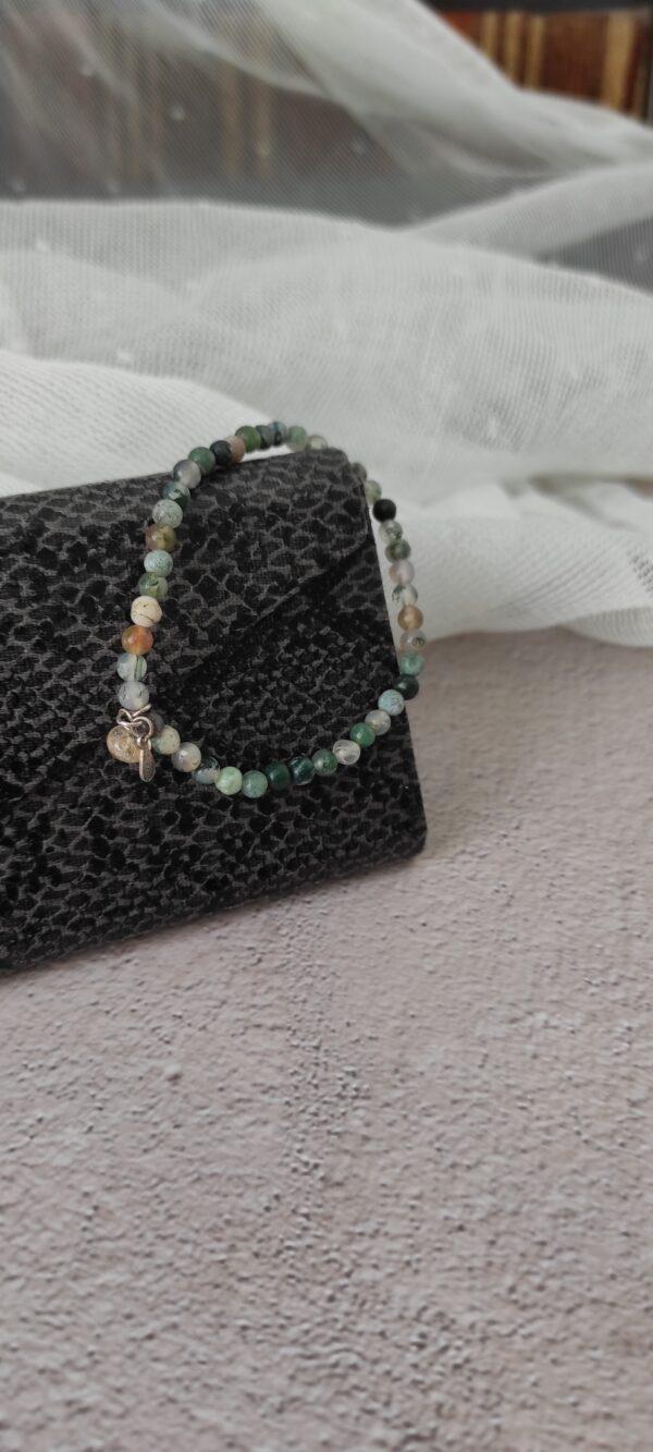 Moss Agate 4mm Bracelet