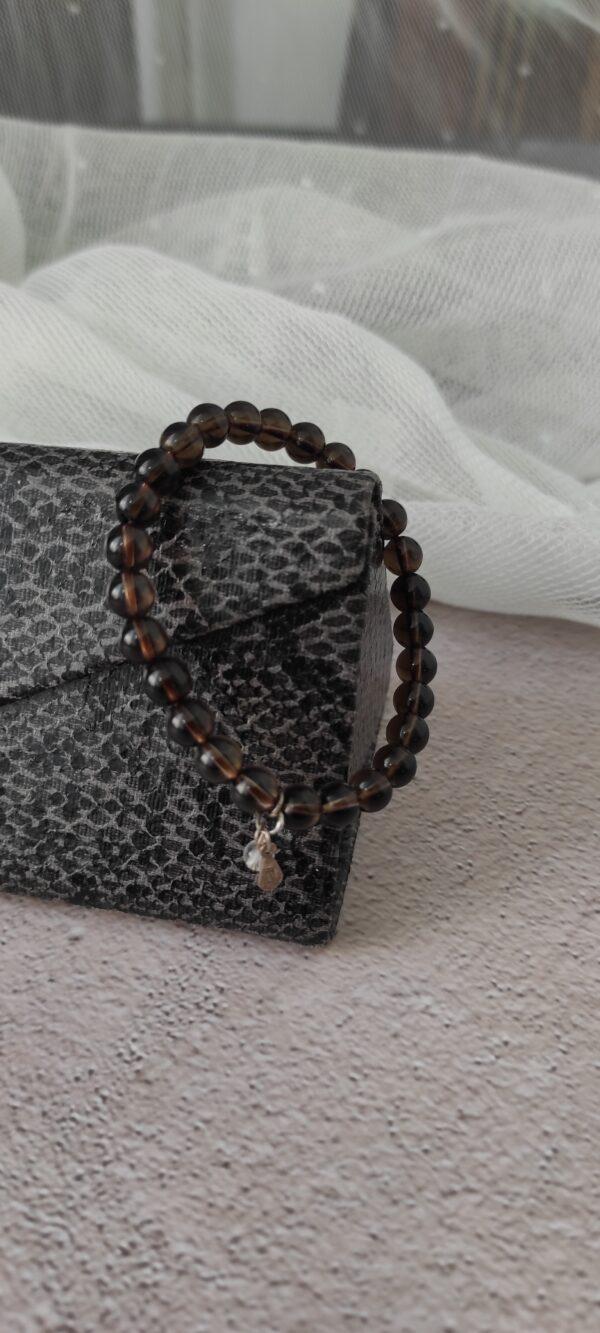 Smoky quartz Cyrstal Bracelet 6mm
