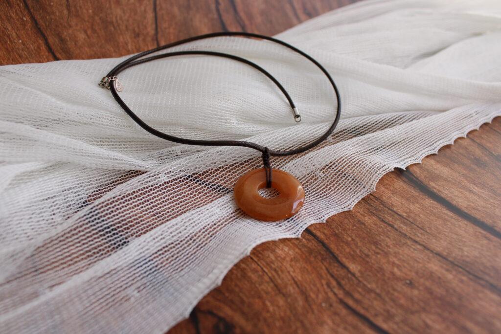 Red Aventurine donut necklace