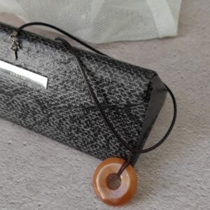 Red Aventurine donut necklace (small)